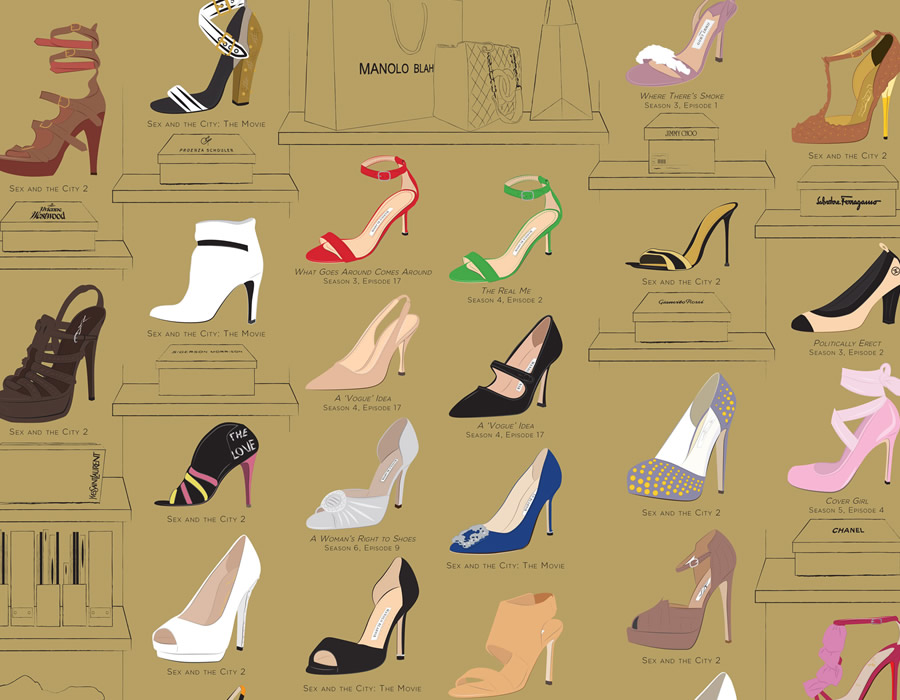 Are some shoes featured on sex and the city can recommend