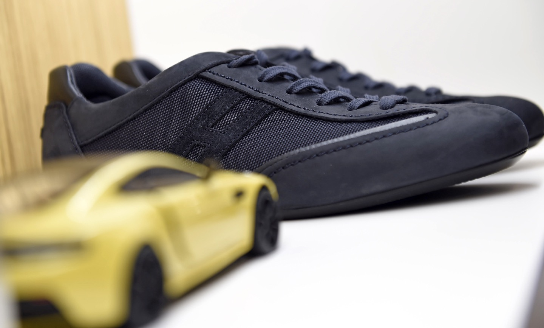 a sneaker for hogan and aston martin - italian shoes