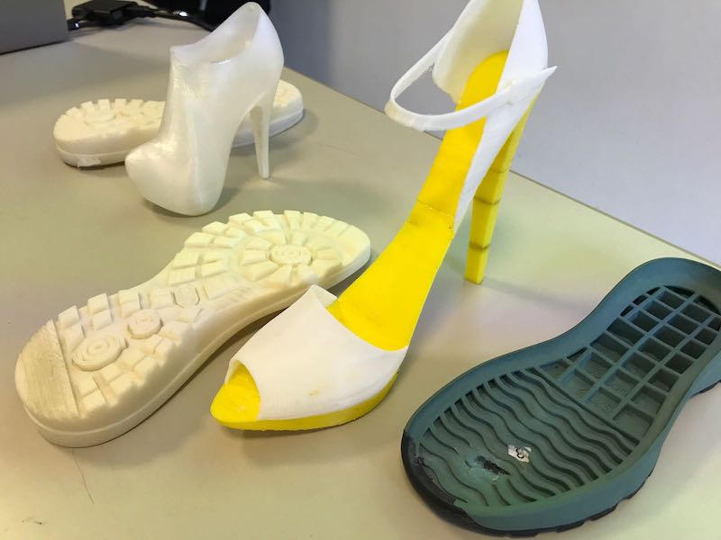 Prototypes made with 3D printers