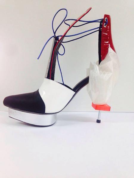 Prototipo creato dagli studenti del Politecnico Calzaturiero insieme a Parsons School of Design di New York