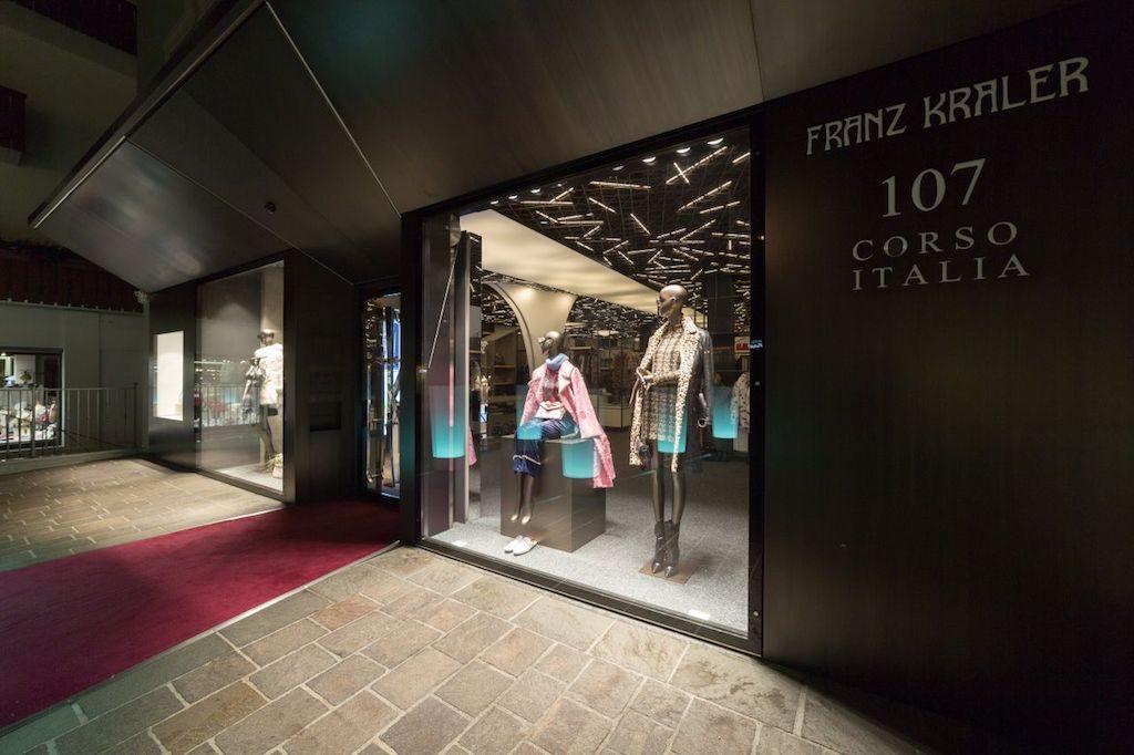 Il negozio di Cortina al 107 di Corso Italia