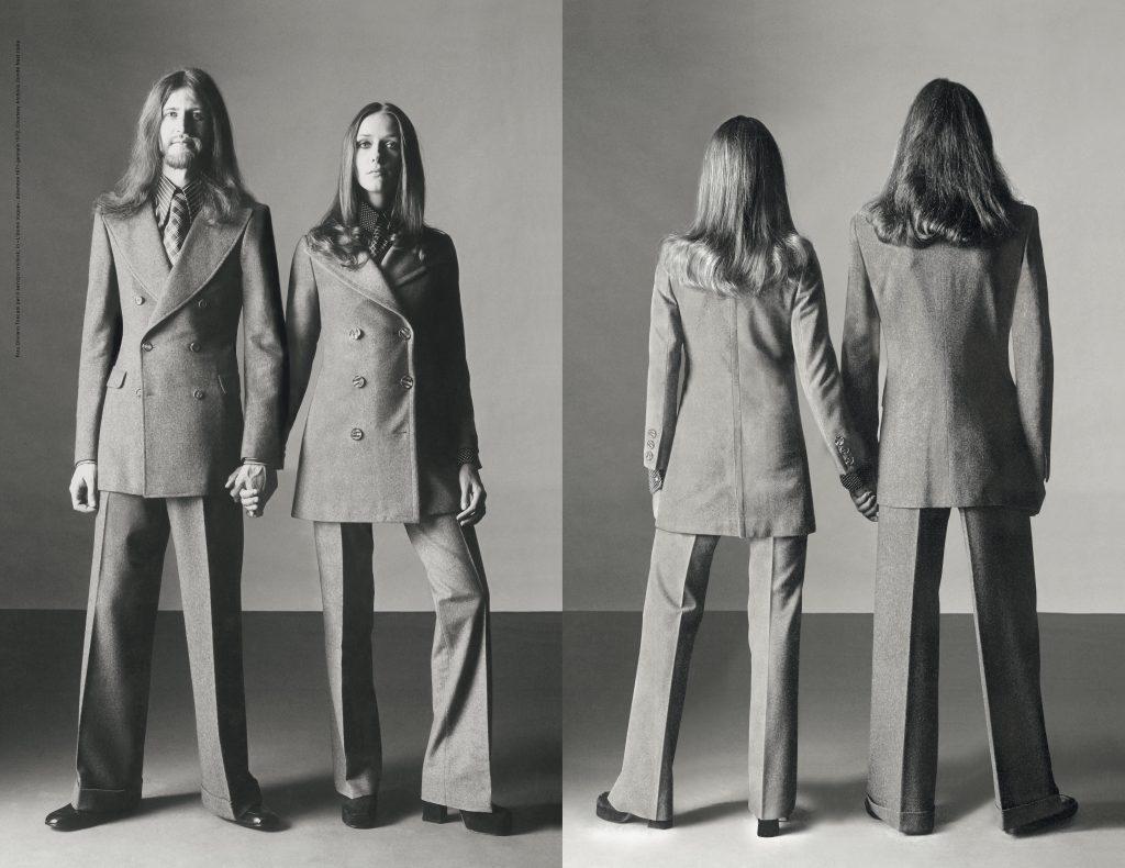 Foto Oliviero Toscani per il servizio Unilook, in «L'Uomo Vogue» n.15, dicembre 1971-gennaio 1972. Courtesy Archivio Condé Nast Italia).